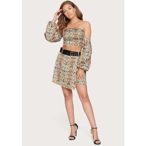 BebePrint Belted Miniskirt