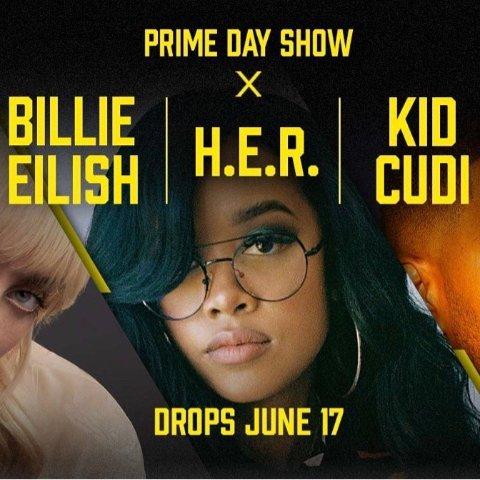 6月17日 会员免费观看预告:Prime Day 演唱会 碧梨、Kid Cudi、H.E.R.强大阵容来袭