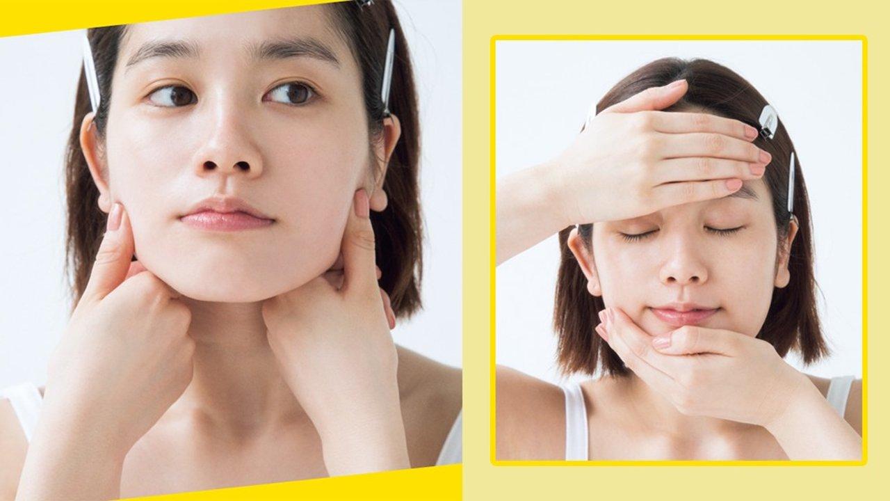 快速去水肿清晰轮廓的瘦脸按摩学起来!每天十分钟和肿泡眼、双下巴说拜拜