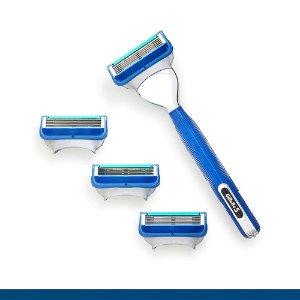 GilletteG5 手动剃须刀+4个替换刀头