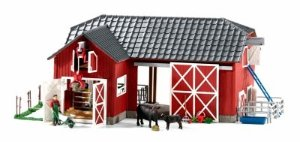 Schleich Large Red Barn with Animal Figurines & Accessories (72102)