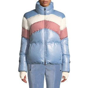 Moncler GrenobleLamar 拼色羽绒夹克