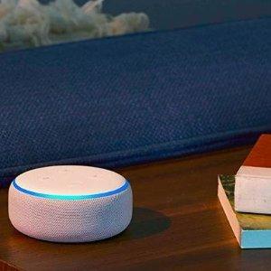 $49.99(原价$69.99)Echo Dot (第3代) 智能家庭音箱3色选,科技改变生活