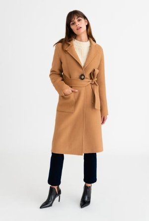 Cleo Coat - Camel – Petite Studio