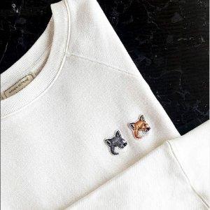 低至4折 £62收狐狸短袖Maison kitsune 法日混血小众品牌大促 街头简约风靡全球