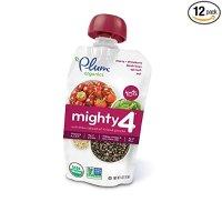 Plum Organics 4段综合口味婴儿有机蔬果泥,4盎司,12袋装