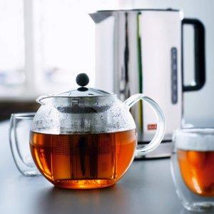 低至5.7折 €28.65起Bodum 精致玻璃过滤茶壶热卖 养生从一杯热茶开始