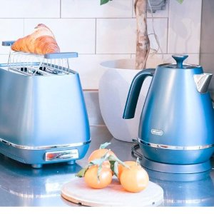 低至6折 多款多色可选DeLonghi德龙 吐司机、烧水壶、咖啡机热卖 高颜值高品质