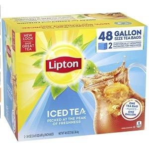 $9.29 每包仅$0.19Lipton 立顿无糖冰红茶茶包 48包