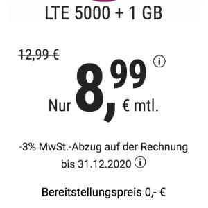 免除€19.99接通费 月租€8.99明早截止!特价+送1GB流量!包月电话/短信+6GB上网+欧盟漫游