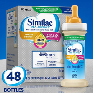 30% off + extra 5% offSimilac Pro-Advance Infant Formula Immune Support, Ready to Drink Bottles, 2 fl oz (48 Count)