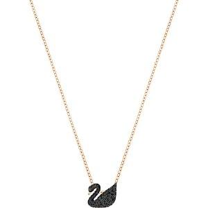 Swarovski黑天鹅项链