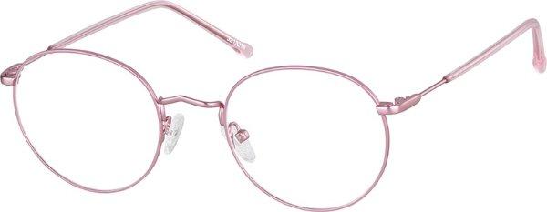 粉色眼镜框
