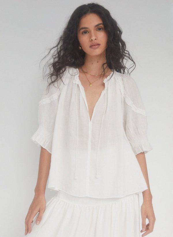 reiki blouse 泡泡袖上衣