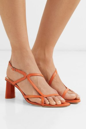 BY FAR | Brigette leather slingback sandals | NET-A-PORTER.COM