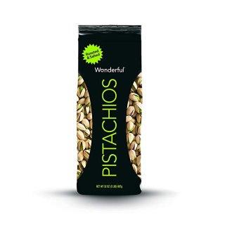 现价$8.13 (原价$11.37) 健康小零食Wonderful Pistachios 轻盐烤开心果32oz