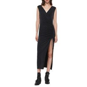 AllSaints暗黑无袖长裙
