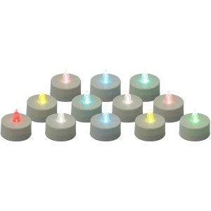 Color Changing LED Tea Light Candles, 12-Pack