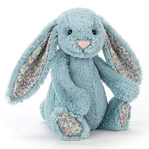 碎花耳朵蓝色兔子
