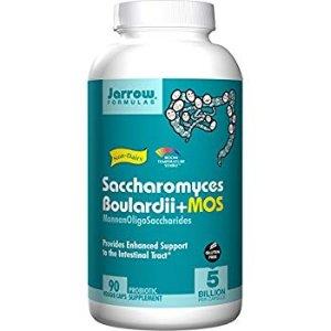 Jarrow Formulas Saccharomyces Boulardii + MOS, 5 Billion Cells Per Capsule