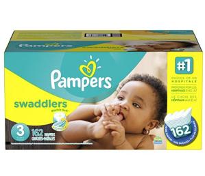 $35.42起(原价$39.99)Pampers Swaddlers婴儿纸尿裤超大包装