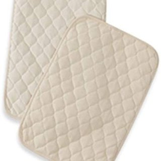 American Baby Company Waterproof Quilted Lap and Burp Pad Cover made with Organic Cotton, Natural Color, 2 Pack - Vinyl Free @ Amazon.com
