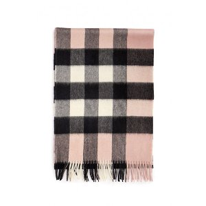 Burberry- Checked Scarf - Pink