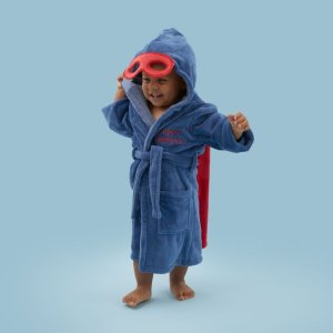 My 1st YearsPersonalized Super Hero Robe with Mask Welcome %1
