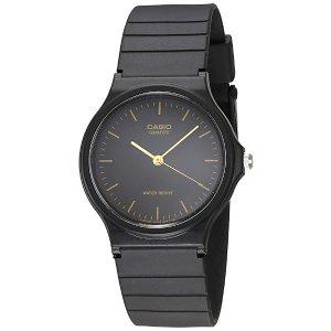 CasioMen's MQ24-1E Black Resin Watch