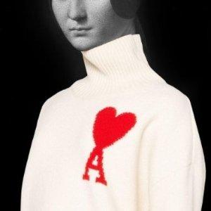 4折起!小红心T恤£75AMI Paris 超萌小爱心专场 小爱心开衫、毛衣、T恤衬衣参与