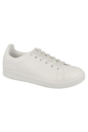 Spot On Square Spot On Iridescent Lace Up White Sneaker