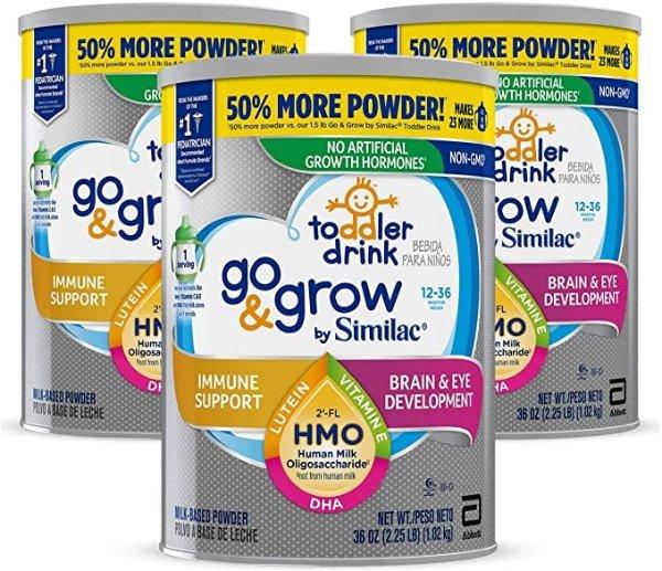 Go & Grow 非转基因幼儿奶粉,36盎司*3罐