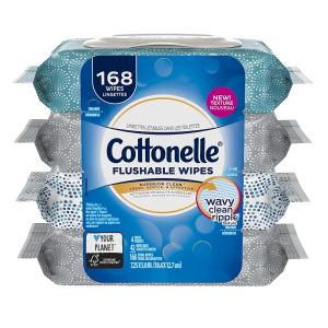 $7.57(原价$ 9.97) 屁屁擦得qiao干净Cottonelle Fresh Care 湿纸巾 42张x4包 可冲马桶