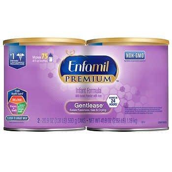 Premium 防胀气配方婴儿奶粉 20.9 oz, 2罐装