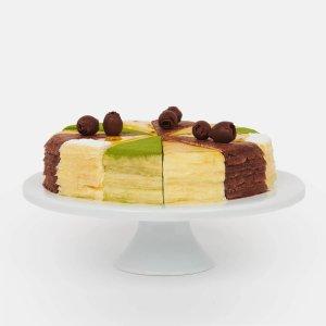 Lady M抹茶,巧克力,百香果,香草多口味千层蛋糕拼盘