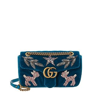 46c2a9c591e GucciMarmont Small Embroidered Velvet Shoulder Bag