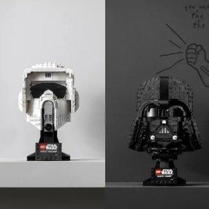 £44.99起可预订+送超萌胡萝卜屋上新:Lego官网 星战系列黑武士、帝国侦察兵头盔