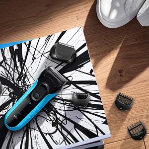 $54.97Braun Series 3 3010BT Men's Beard Trimmer/Hair Clipper, Razor, Foil Shaver, Blue & Black