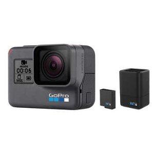 $229.99(原价$349)史低价:GoPro HERO6 Black 4K 运动相机 + 配件套装