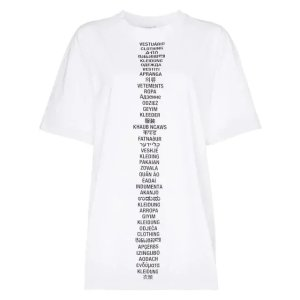 VetementsTranslated t-shirt WHITE