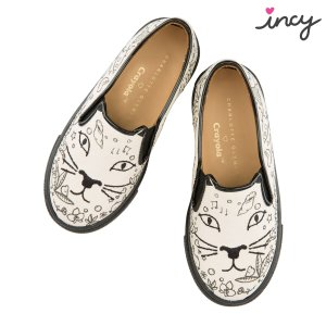 Charlotte Olympia Designer and Luxury Sneakers for Women | Charlotte Olympia - INCY COOL CAT CRAYOLA
