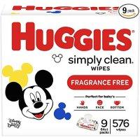 Huggies Simply Clean 无香湿巾 (9袋共576 抽)