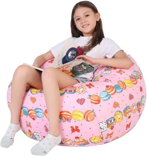 Lukeight 儿童豆袋椅套 自己填充可做收纳 多色可选