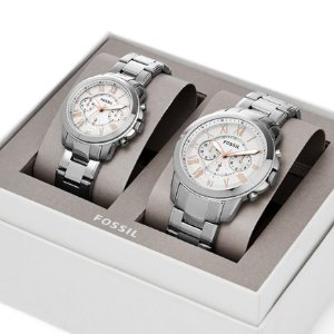 Last Day: Extra 20% OffFossil His & Hers Grant Chronograph Watch Box Set @ Fossil