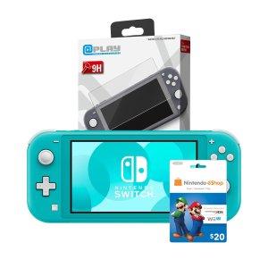 Switch Lite+$20礼卡+贴膜