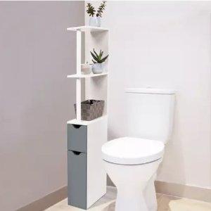 3.2折 仅€29.99浴室简约双层置物架 节省空间就靠它啦 拼装超简单
