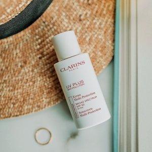 $32.25UV PLUS Anti-Pollution Sunscreen Multi-Protection Broad Spectrum SPF 50 @ Clarins