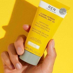 满£60减£15,最佳肌肤体验即将截止:REN 英国高端护肤品牌 纯净护肤先驱现有热促