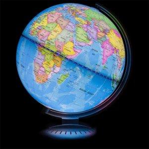 $20 8in Illuminated Up World Globe - Multicolor