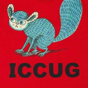 €350收小动物短袖T恤Gucci X Freya Hartas 英国插画师合作款上线 镜像Logo超别致